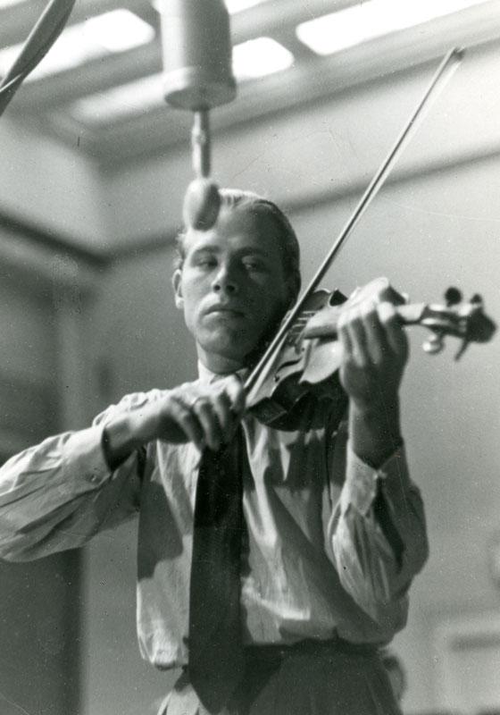 Helmut Zacharias 1949,  Foto: Weidenbaumt